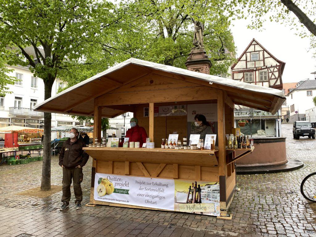 Regional-Bude auf dem Bensheimer Wochenmarkt
